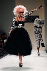 The Betsey Johnson Spring 2014 collection is modeled during Fashion Week in New York, Wednesday, Sept. 11, 2013. (AP Photo/John Minchillo)