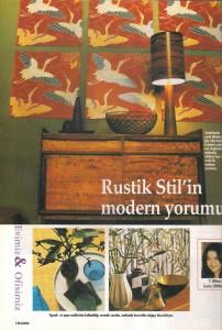 rustik stilin modern yorumu