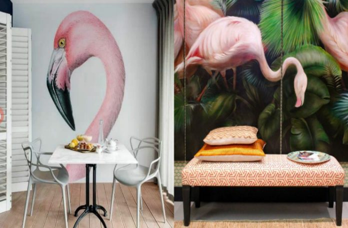 GET AS GUESTS THE FLAMINGOS IN YOUR HOME!