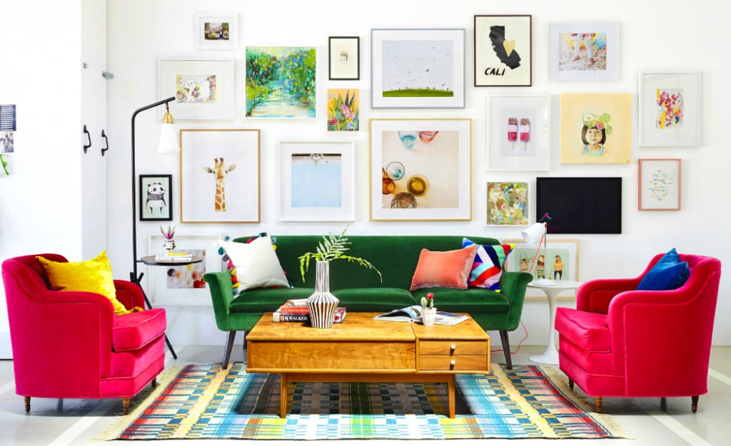 INSPIRATIONS FROM COLORFUL SOFAS IN INTERIORDESIGN